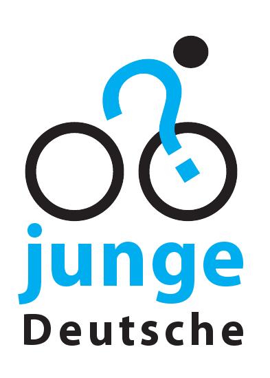JD2012 - Tourlogo von www.jungedeutsche.de (das radfahrende Fragezeichen)