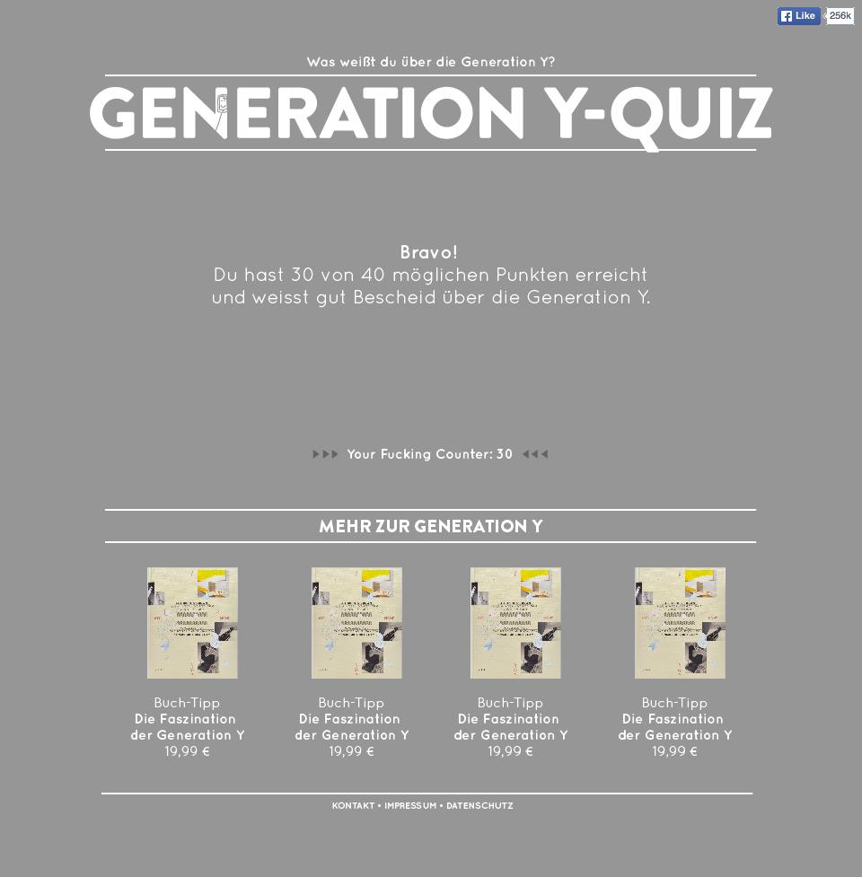 Generation Y - Quiz, Auswertung, jungedeutsche